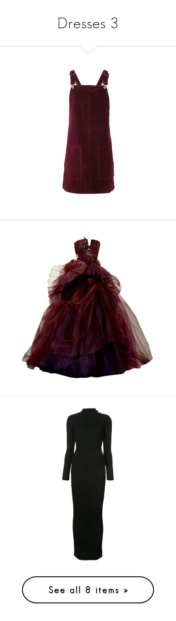 """""""Dresses 3"""" by fandom-girl365790 ❤ liked on Polyvore featuring dresses, wine, pinny dress, long sleeve purple dress, long-sleeve velvet dresses, long sleeve day dresses, pinafore dress, gowns, long dresses and red dresses"""