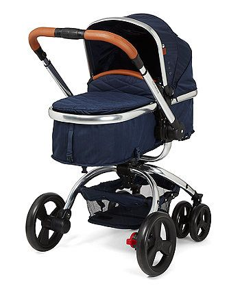 This special edition of the Mothercare Orb Pram and Pushchair features extra luxury touches including a leatherette bumper bar and handle, quilted sheepskin trim cosytoe, a quilted apron and a chrome finish chassis. It also has the unique one hand rotation that allows you to quickly convert from forward to parent-facing mode, and is travel system compatible to suit the needs of your family.