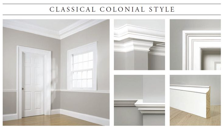 CLASSICAL COLONIAL: c.1725 - 1820. The Classical Colonial Style captures the feel of the 18th century. Designed after the historic William Gibbes House in Charleston, South Carolina, where the rooms and walls are symmetrical, balanced and perfectly proportionate. WindsorONE Classic American Molding Collection