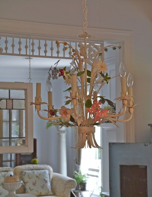 Chateau Chic - Vintage Tole Chandelier - 227 Best ITALIAN TOLE OBSESSION Images On Pinterest Chandeliers