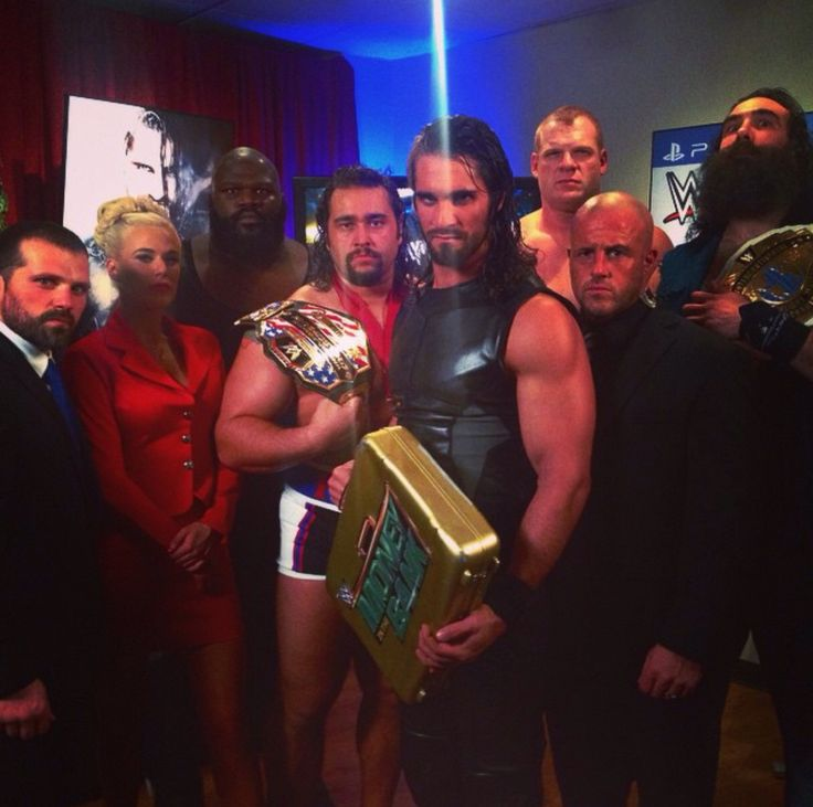 WWE Jamie Noble, Lana, Mark Henry, United States Champion Rusev, Mr Money in the Bank Seth Rollins, Kane, Joey Mercury & Intercontinental Champion Luke Harper