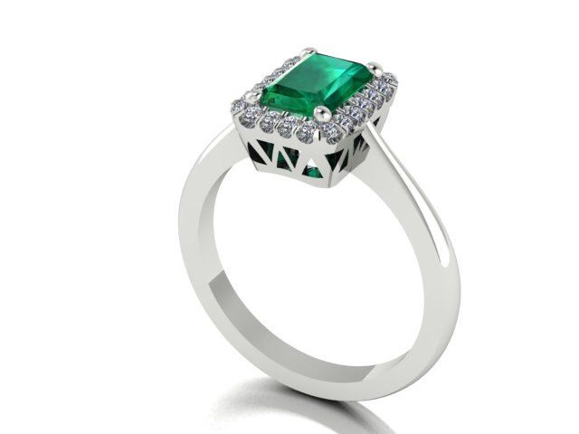 Wedding And Engagement Rings, Genuine Emerald And Diamonds Vintage Style Elegant Engagement Ring, Natural Emerald Stone With Diamonds Halo by BridalRings on Etsy https://www.etsy.com/listing/242528095/wedding-and-engagement-rings-genuine