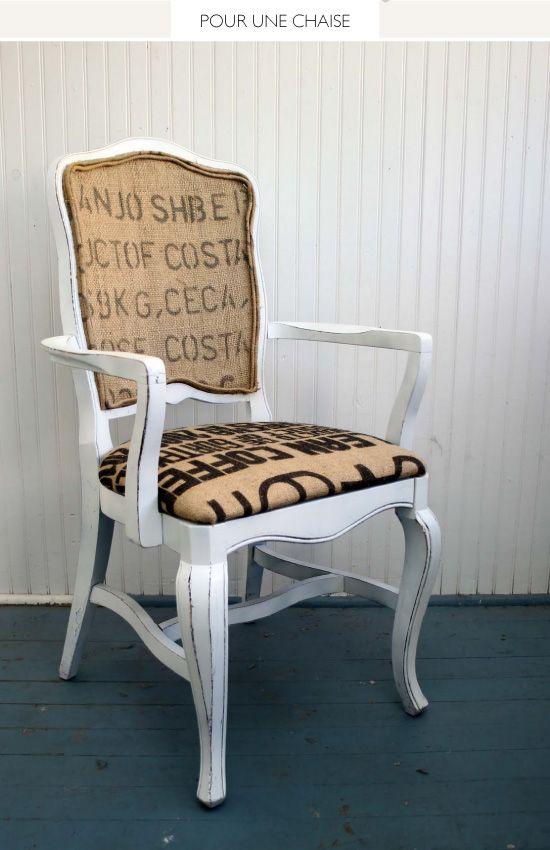 17 meilleures id es propos de chaise de toile de jute sur pinterest chaises de cuisine. Black Bedroom Furniture Sets. Home Design Ideas