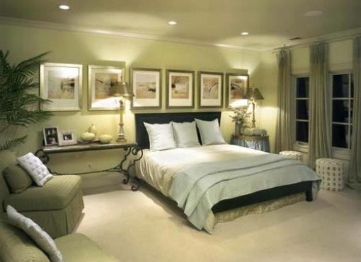 Elegant Bedroom Color Schemes with Your Favorite Color  Gorgeous Large  Windows Modern Minimalist Green Bedroom Colour Schemes Design Finished In  Elegant  36 best AWESOME WALL PAINT images on Pinterest   Architecture  . Green Bedroom Design Ideas. Home Design Ideas