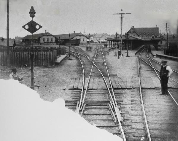This picture of  the old Ottawa Broad Street station was most likely taken in 1892.