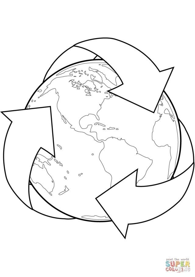 Beautiful Photo Of Recycling Coloring Pages Earth Coloring Pages