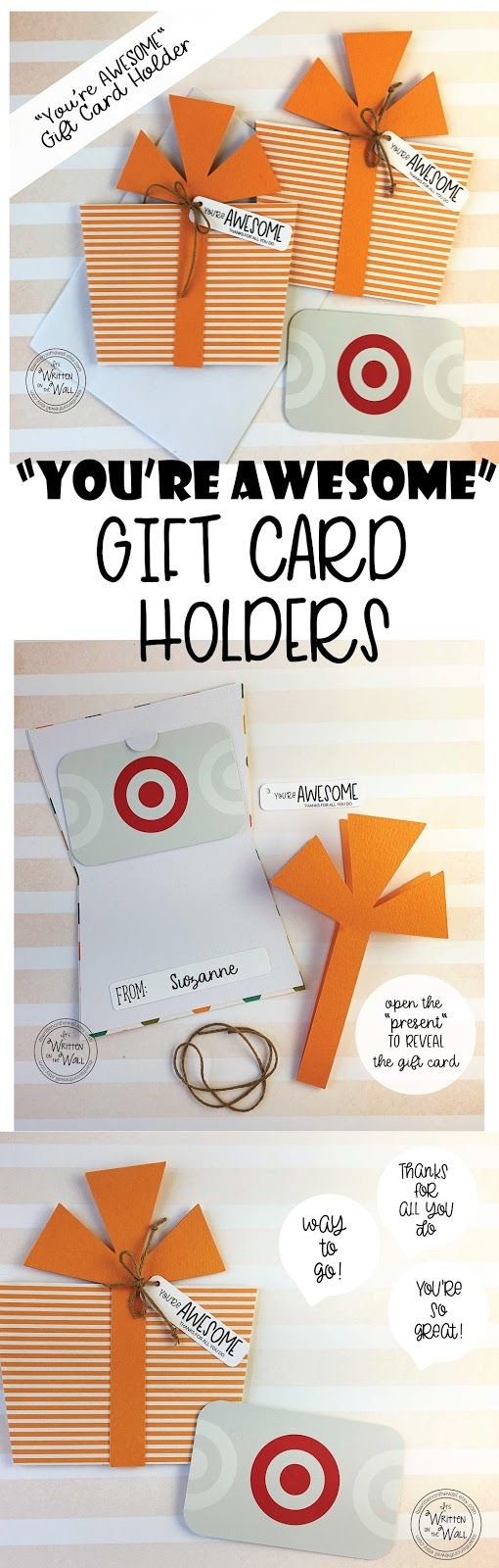 GIFT CARD HOLDERS for Teacher Appreciation, Employee Recognition, Co-Worker gifts, Corporate Gifts, Recognition gifts