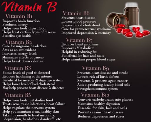 Vitamin B Complex Benefits - taken from Fitness For Women by Flavia Del Monte