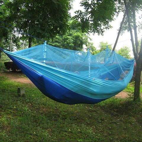 5 Color Portable Parachute Hammock with Mosquito Net