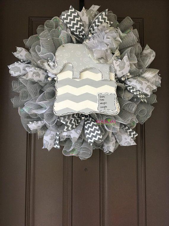 Deluxe Gender Reveal Burlap Baby Wreath by WreathsandBowsOhMy