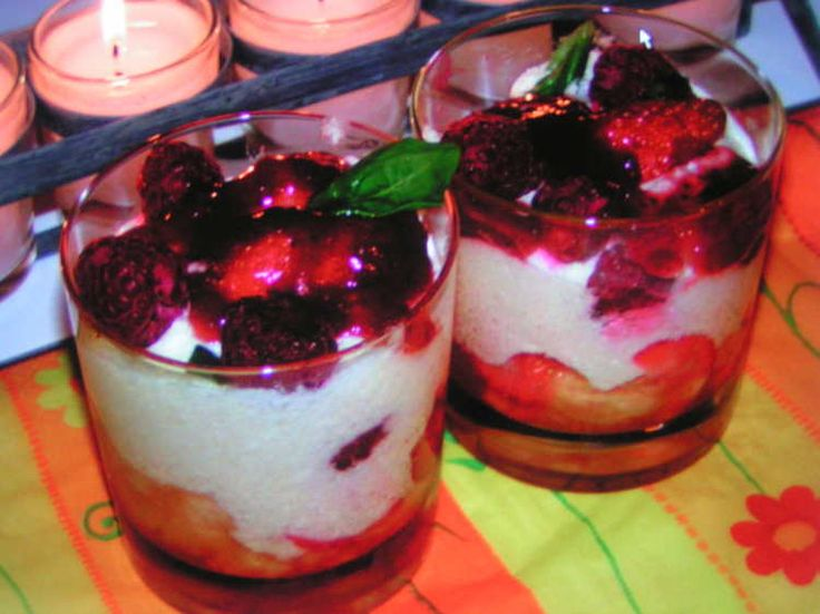 Trifle aux fruits rouges
