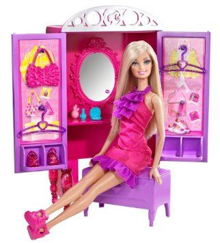 Luxury Barbie Dress Up To Make Up Closet and Barbie Doll Set