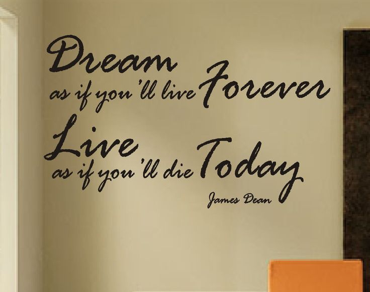 Vinyl Wall Lettering Words Quotes Decals James Dean Dream Forever Live Today