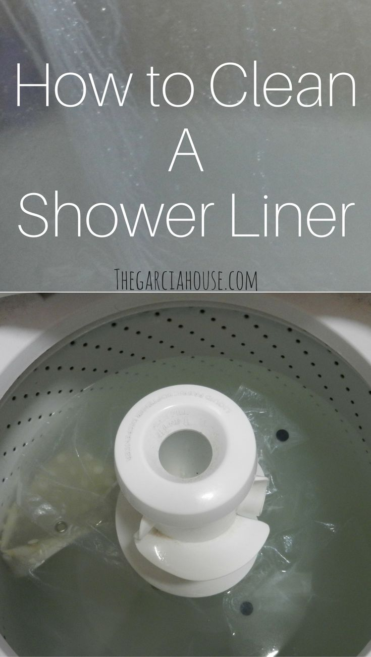 Don't replace your shower liner or bathtub mat just yet! You *can* wash them and keep using them! Here's all you need to use to get them looking new!