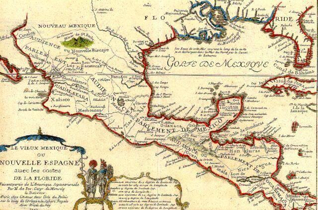 Mapa de la Nueva España y Florida, 1704. Yale University Library, EUA.