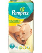Ooshop Pampers Couches New Baby - Taille 1 New Born : 2-5 kg - 45 diapers 9.18 E