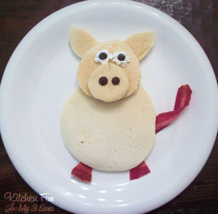 Piggy Pancakes...super easy to make!