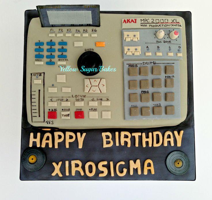 Synthesizer birthday cake