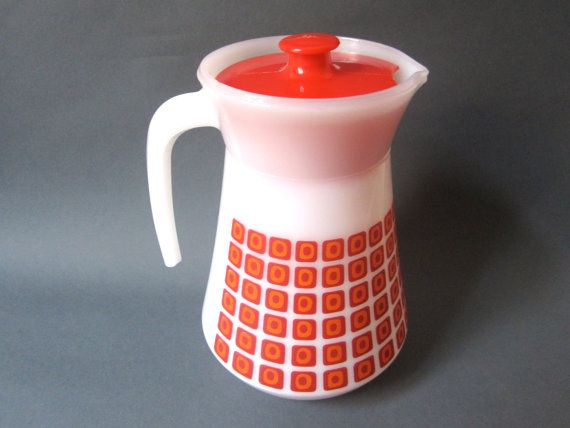 Retro 1960s Pyrex Jug Pitcher French by vintageekho on Etsy