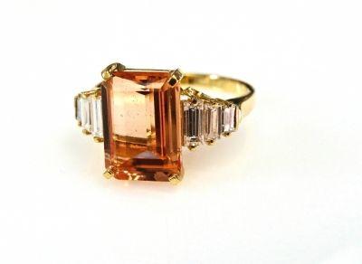 Birks Topaz and Diamond Ring