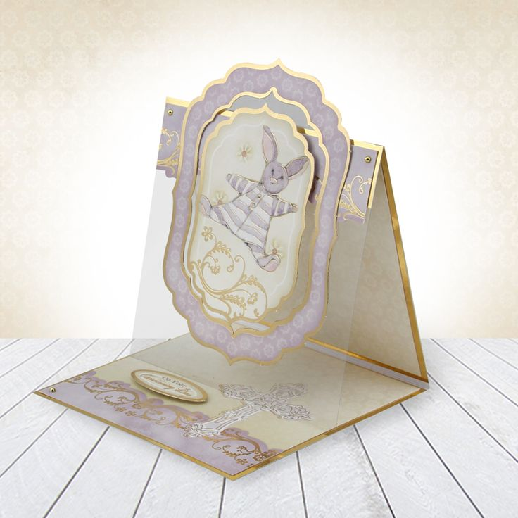 Card made using Hunkydory Crafts' Christening & Communion Luxury Topper Set from the Moments & Milestones Collection