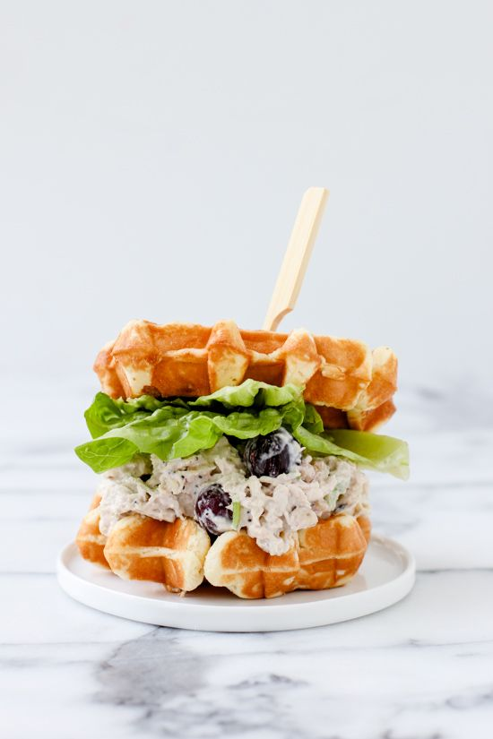 A New Take on Chicken and Waffles: Homemade Chicken Salad Waffle Sandwiches - Paper and StitchPaper and Stitch