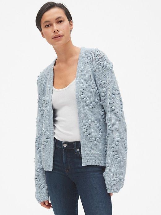 f4a1f9a476f9 Bobble Stitch Cardigan Sweater in Wool-Blend in 2019