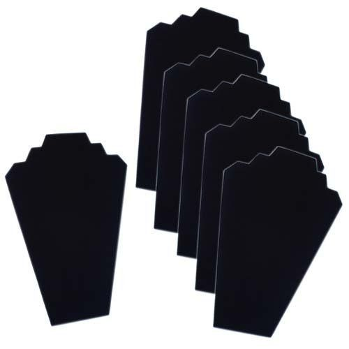 Black Velvet Necklace Jewelry Display Organizer Stand 6pcs//Pack FANTASTIC : 12.5inches