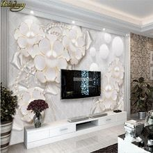 beibehang Custom photo wallpaper large mural wall stickers holy white luxury jewelry flowers living room TV backdrop wall