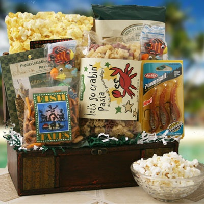 The Big One Fishing Gift Basket @ Design It Yourself Gift Baskets