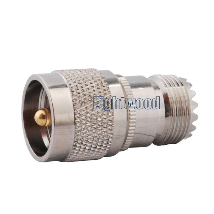 5PCS UHF Car Radio Antenna Adapter UHF Plug to UHF Jack Straight SO-239 SO239