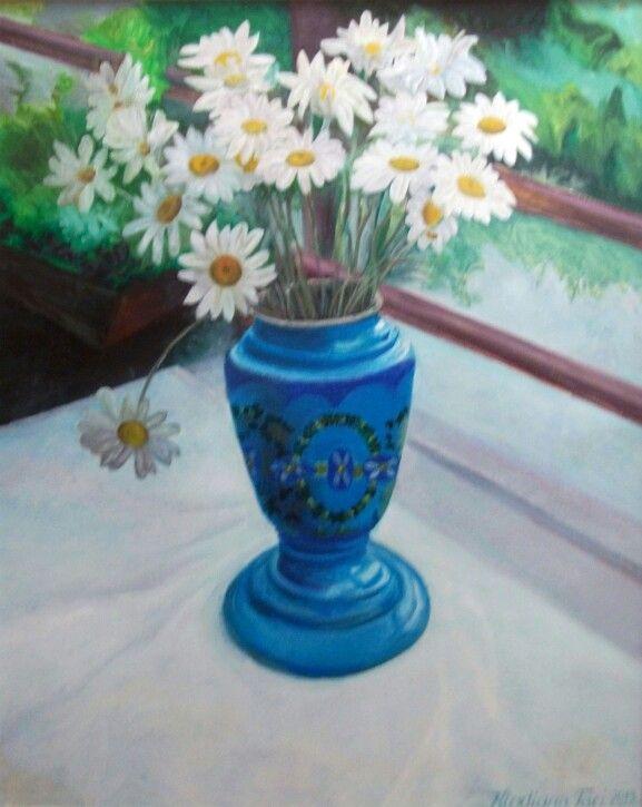 Lule margaritat ne vazo