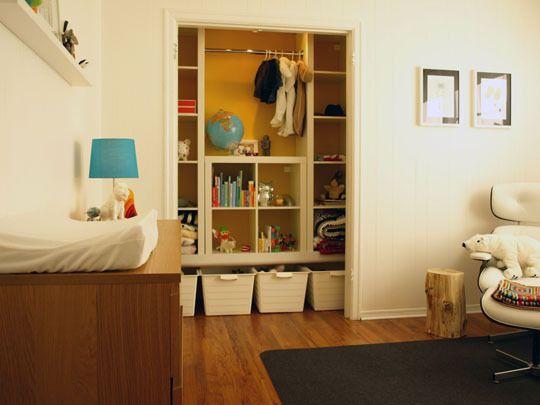 great closet storage: Closet Idea, Closet No Doors, Kids Closet Organizations, Boys Rooms, Playrooms Closet, Boys Decoration, Kids Clothing, Nurseries Organizations, Kids Rooms