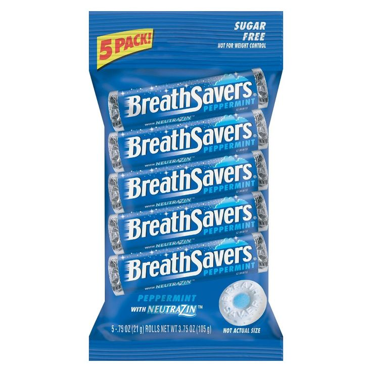 Breath Savers Peppermint Sugar-Free Mints 5 pk