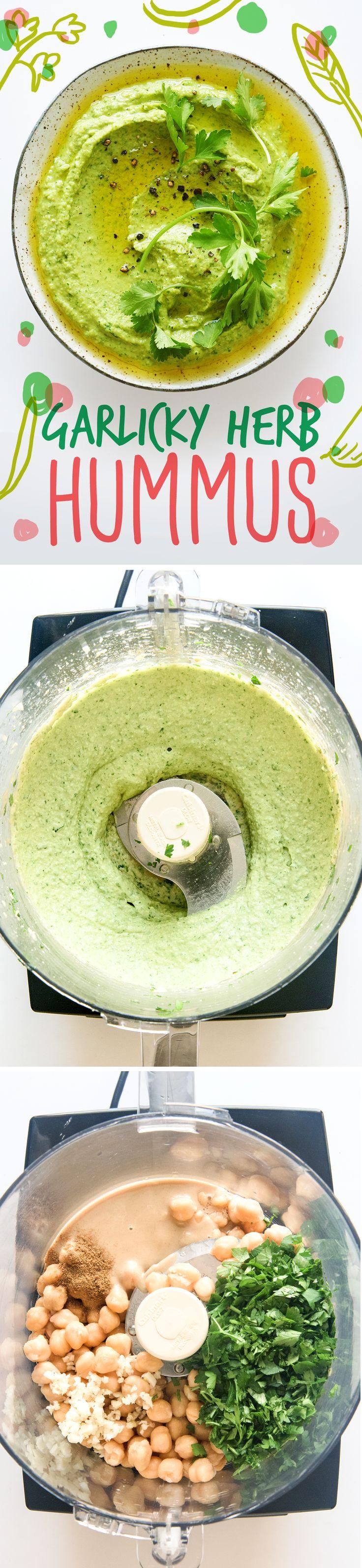 herb hummus   healthy recipe ideas @xhealthyrecipex  