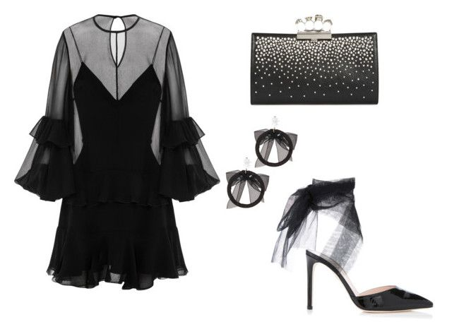 """Untitled #36"" by angeline-mewengkang on Polyvore featuring Alexander McQueen, Alex Perry and Fallon"