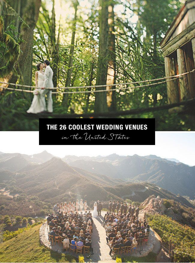 Top 26 Coolest Places to get Married