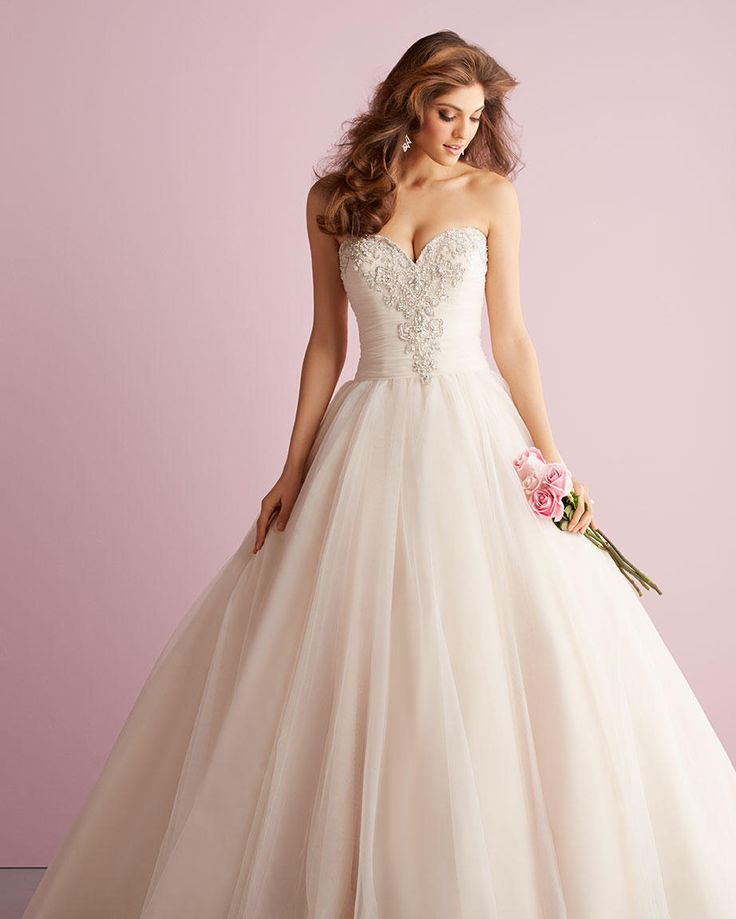 Stunning Romantic Allure wedding dress Ballgown with beaded bodice Heavily beaded wedding dress