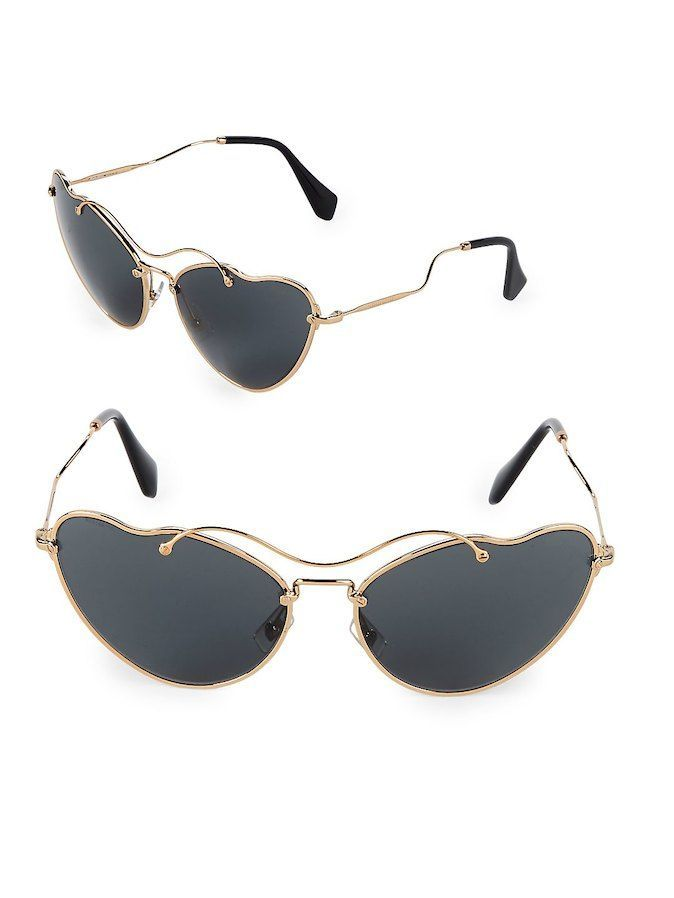 4f5b65015ccd Miu Miu 65MM Butterfly Sunglasses On-trend sunglasses enhanced with curved  details 65mm lens width