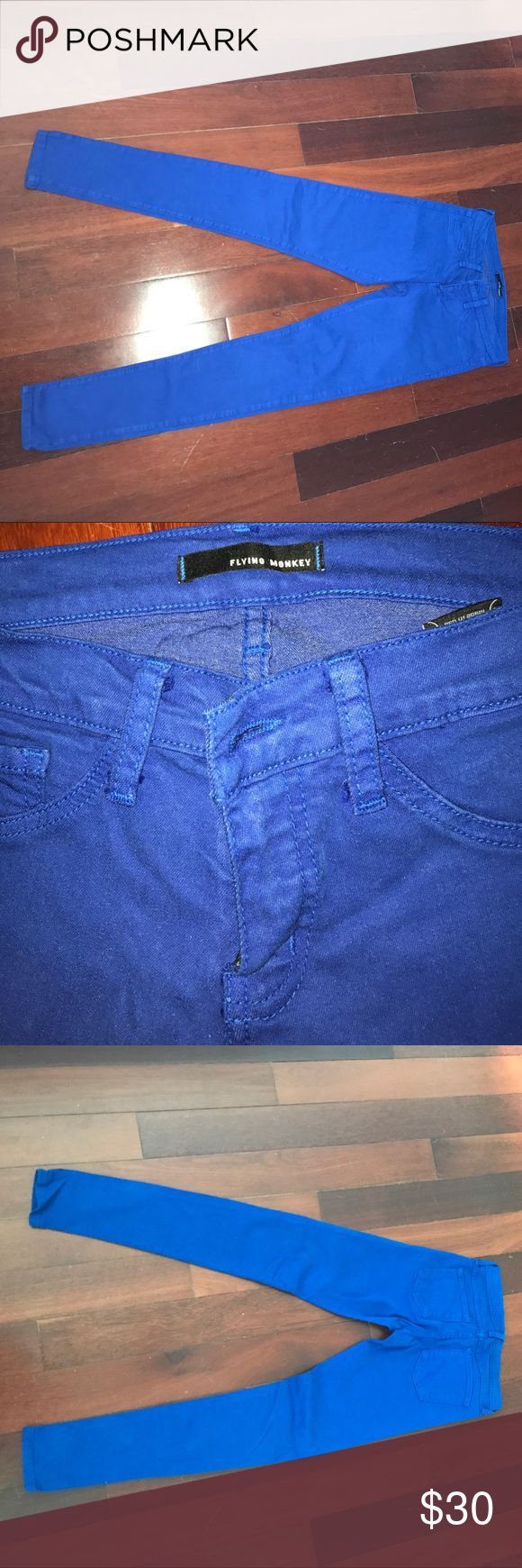 Flying Monkey Royal Blue Jeans Flying Monkey Royal Blue Jeans barely worn Flying Monkey Jeans
