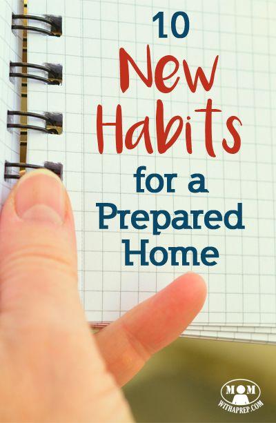 10 New Habits for a Prepared Home | create stockpile | 2017 resolutions | create a stockpile via @momwithaprep