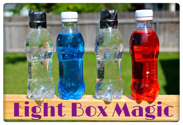 Light Box Magic Science Experiments Use Of Plastic And