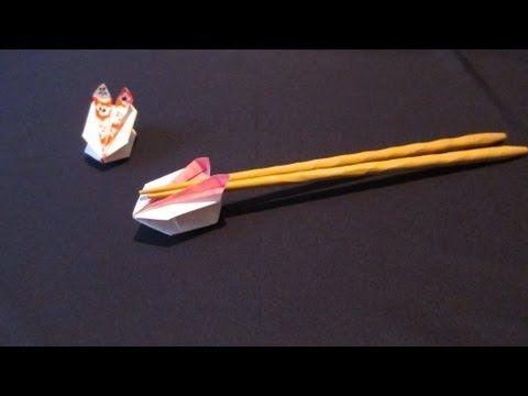 折り紙で作る箸置き~1月雪うさぎ~[How to ORIGAMI]Snow Rabbit - YouTube