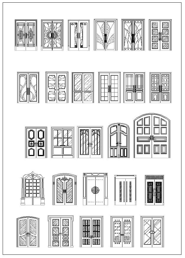 Ornamental Door Amp Window Bundle Cad Design Free Cad