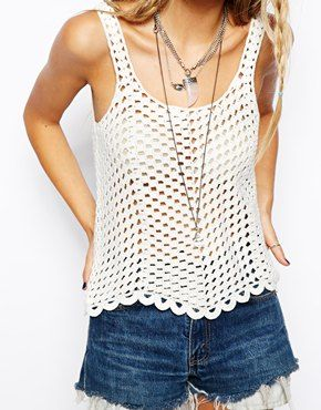 Image 3 of ASOS Crochet Vest