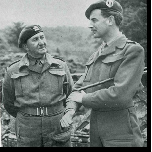 Lord Lovat & Colonel Vaughn (who oversaw all allied Commando training in WW2)