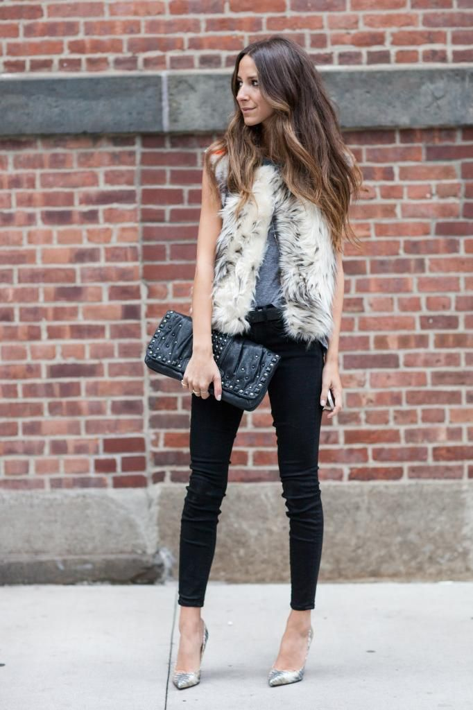 love this cynthia vincent faux fur vest. a must have this fall/winter