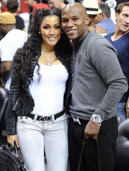 Floyd Mayweather and his fiancee Shantel Jackson pictures