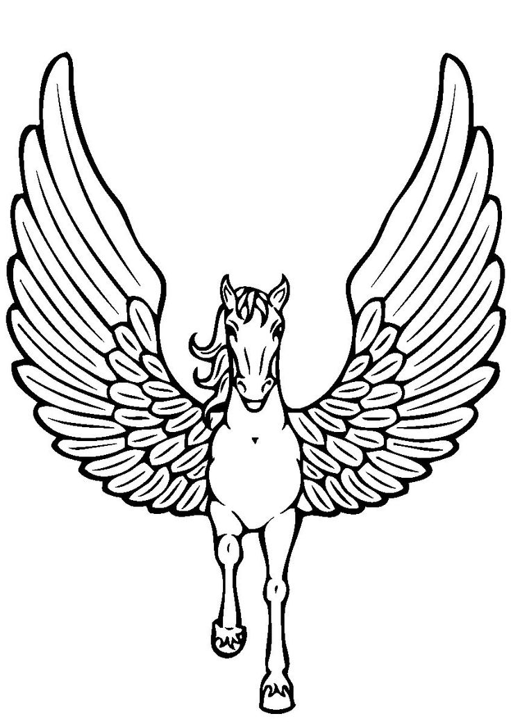 Pegasus Waving His Wings