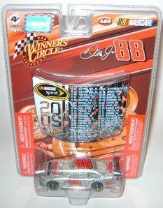 Dale Earnhardt Jr #88 AMP Energy Silver 25th Hendrick Motorsports Anniversary 1/64 Scale Car & 1/24 Scale 2009 NASCAR Sprint Cup Schedule Magnet Hood Winners Circle